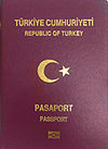 First page of a Turkish passport