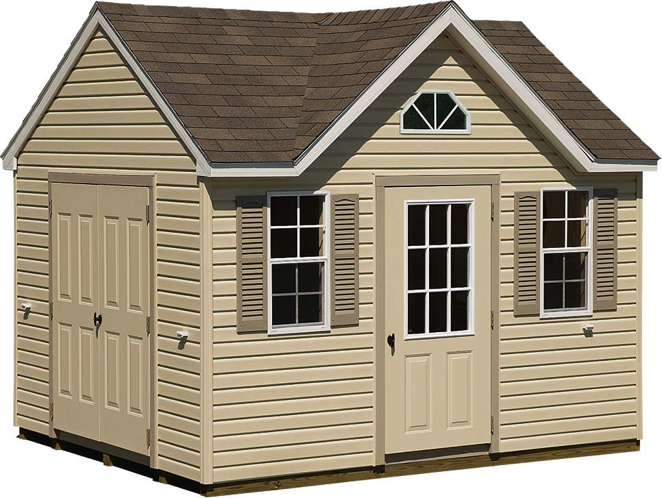vinyl sided sheds