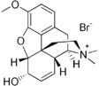 Chemical structure of Codeine methylbromide.