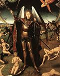 """Detail from """"The Last Judgement"""" by Hans Memling"""