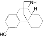 Chemical structure of Norlevorphanol.