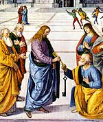Christ giving the Keys of Heaven to Peter