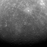 The first ever photograph from Mercury orbit, taken by MESSENGER, March 29, 2011.