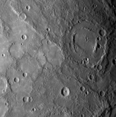 An image of part of the previously unseen side of the planet