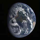 A view of Earth from MESSENGER during its Earth flyby