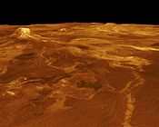 Eistla Regio featuring Gula Mons reprojected in 3D from stereo data.