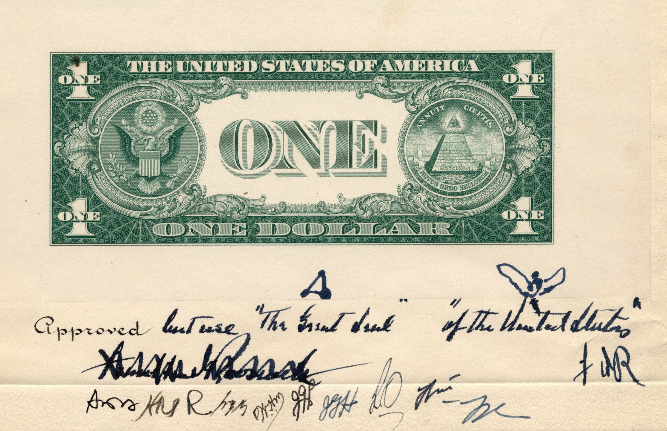 United states one dollar bill reverse of current 1 bill xflitez Choice Image