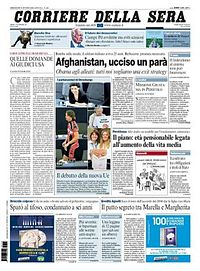 Sample frontpage from the newspaper
