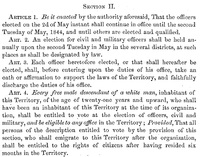 Section II of the Organic Laws