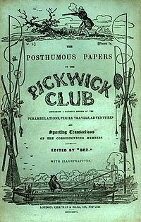 Original Pickwick cover issued in 1836