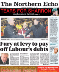 The Northern Echo - front page.png