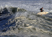 Photo of surfer catapulted from now-inverted board