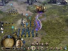 A virtual battle takes place. An army marches to the north.