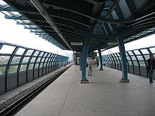 Elevated station, with curved design