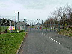 The southern entrance to Otterburn MOD camp