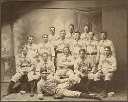 The 1901 Boston Americans team photograph