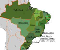 A map showing the Empire and its provinces