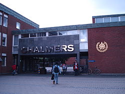 the gate of Chalmers(Gibraltar Campus)