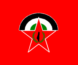 DFLP Party logo and flag