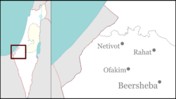 Neve D'kalim is located in the Gaza Strip
