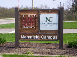 The Mansfield Campus welcome sign