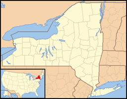 Location of Ogden Mills State Park in New York