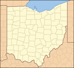 Location of Mary Jane Thurston State Park in Ohio