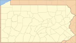 Location of Oil Creek State Park in Pennsylvania
