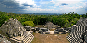View from atop Caracol