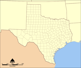 Map showing the location of Davis Mountains State Park