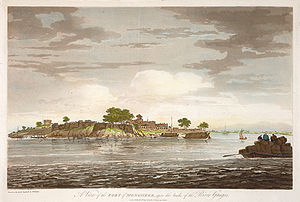 A View of the Fort of Mongheer, upon the banks of the River Ganges.jpg