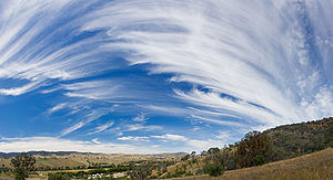 Cirrus uncinus and Cirrus spissatus over Swifts Creek, Victoria.