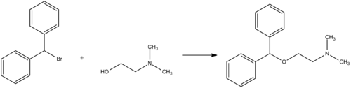 Diphenhydramine synthesis.png
