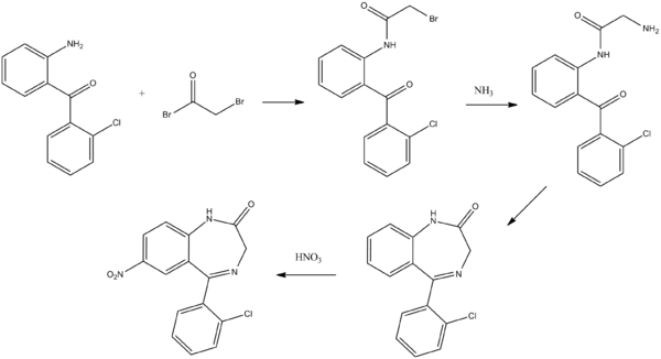 Clonazepam synthesis.png