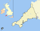 Cornwall outline map with UK (2009).png