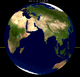 Lunar eclipse from moon-2051Oct19.png