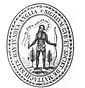 """The colony's first seal, depicting a dejected Native American with arrows turned downwards, saying """"Come over and help us"""", an allusion to Acts 16:9 of Massachusetts Bay Company"""