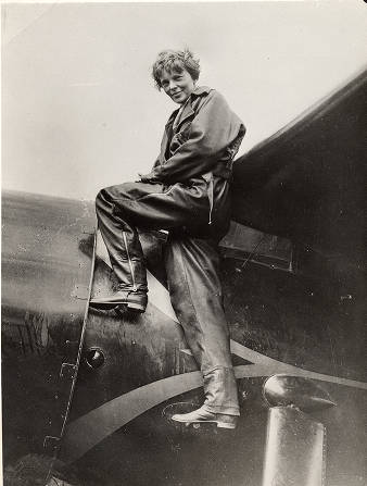 Image result for amelia earhart starts her solo trek across the atlantic in 1932
