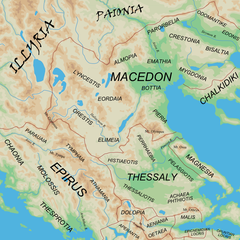 Ancient Greece Map Macedonia.Regions Of Ancient Greece