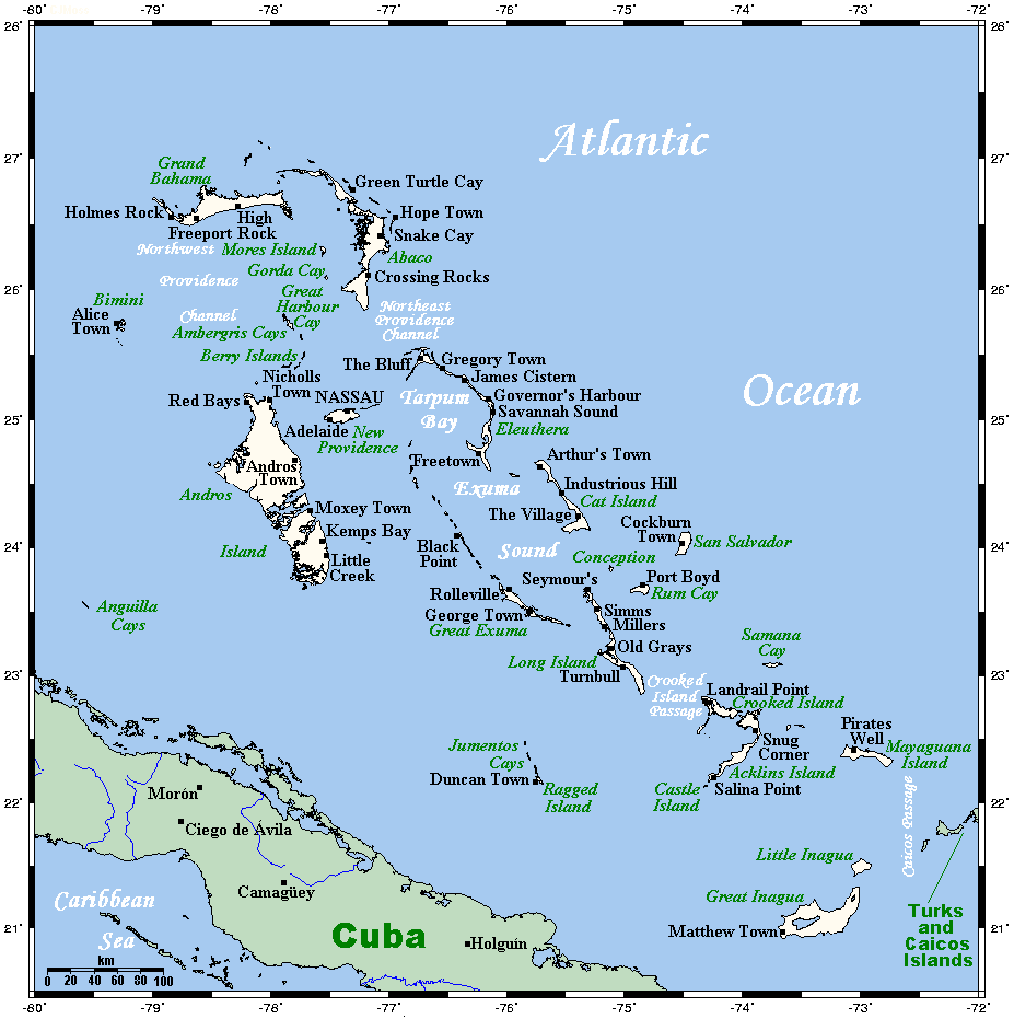 Outline of the Bahamas