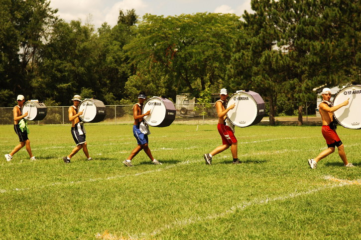 Pitched Bass Drum In Marching Band Use