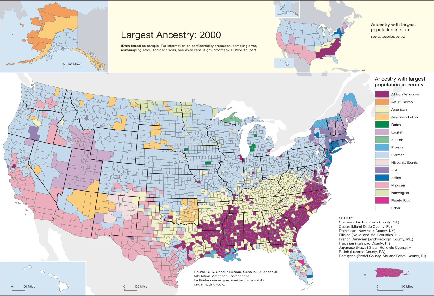 United States - Atheism prevalence map us
