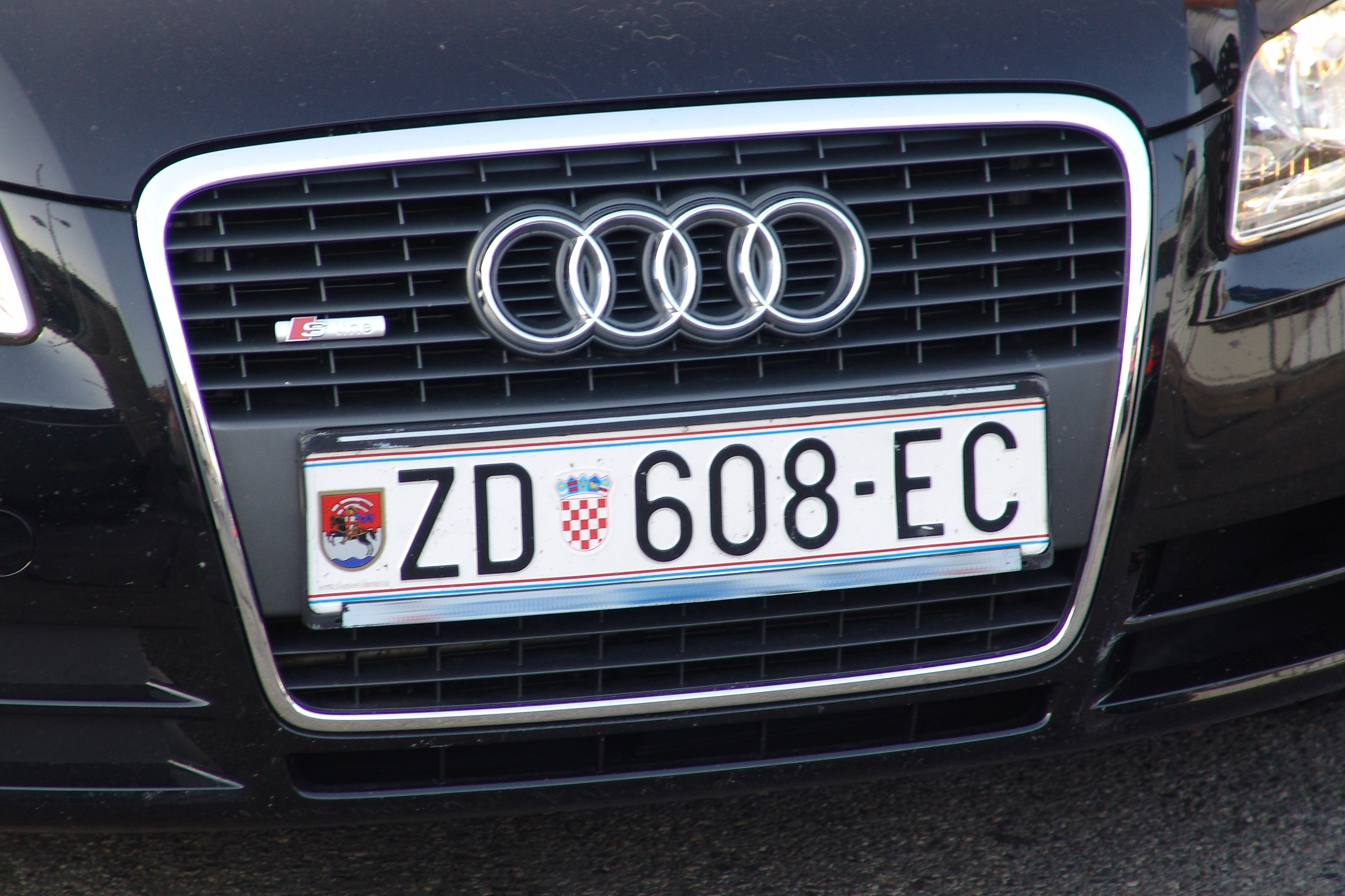 Vehicle registration plates of Croatia
