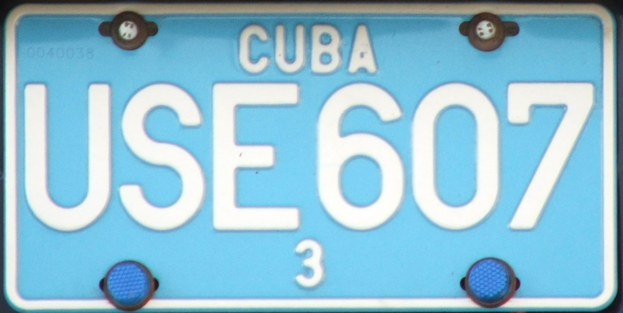 Vehicle registration plates of Cuba