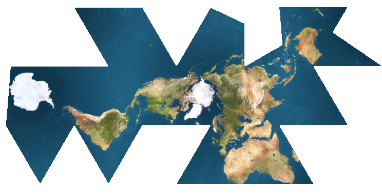 World map dymaxion projection gumiabroncs Image collections