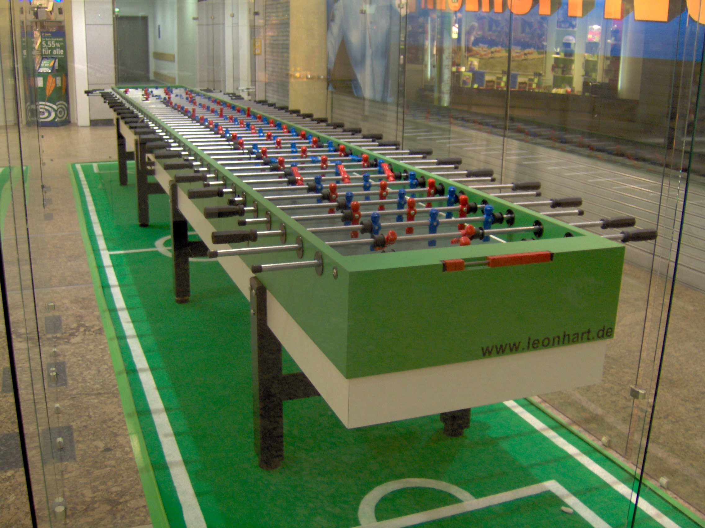 Foosball Table Regulation Size Designs