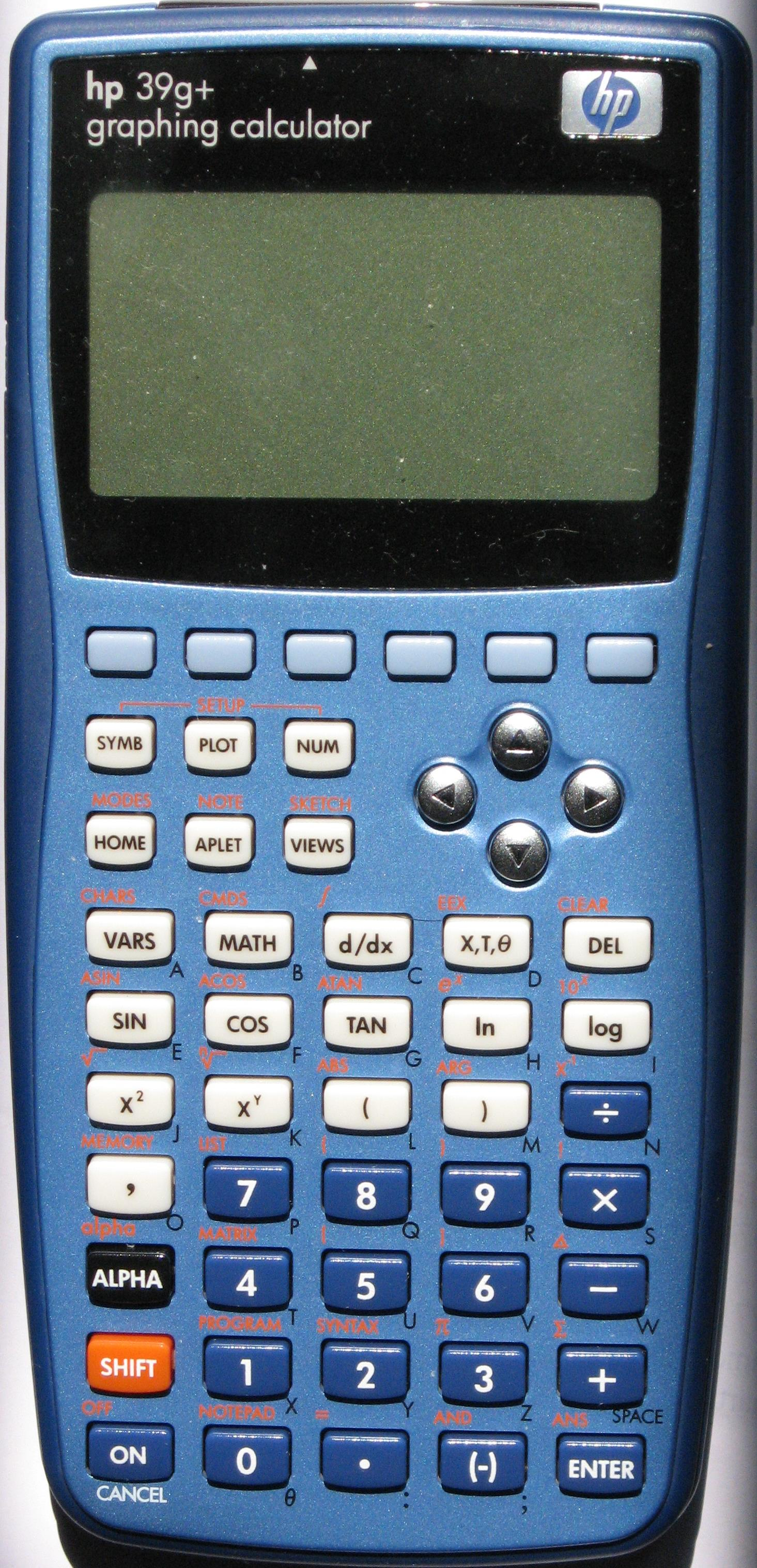 Comparison of HP graphing calculators