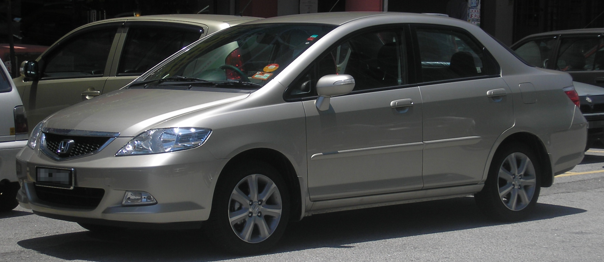 Honda City (fourth generation, second facelift) (front), Serdang.jpg. Also  called, Honda Fit Aria