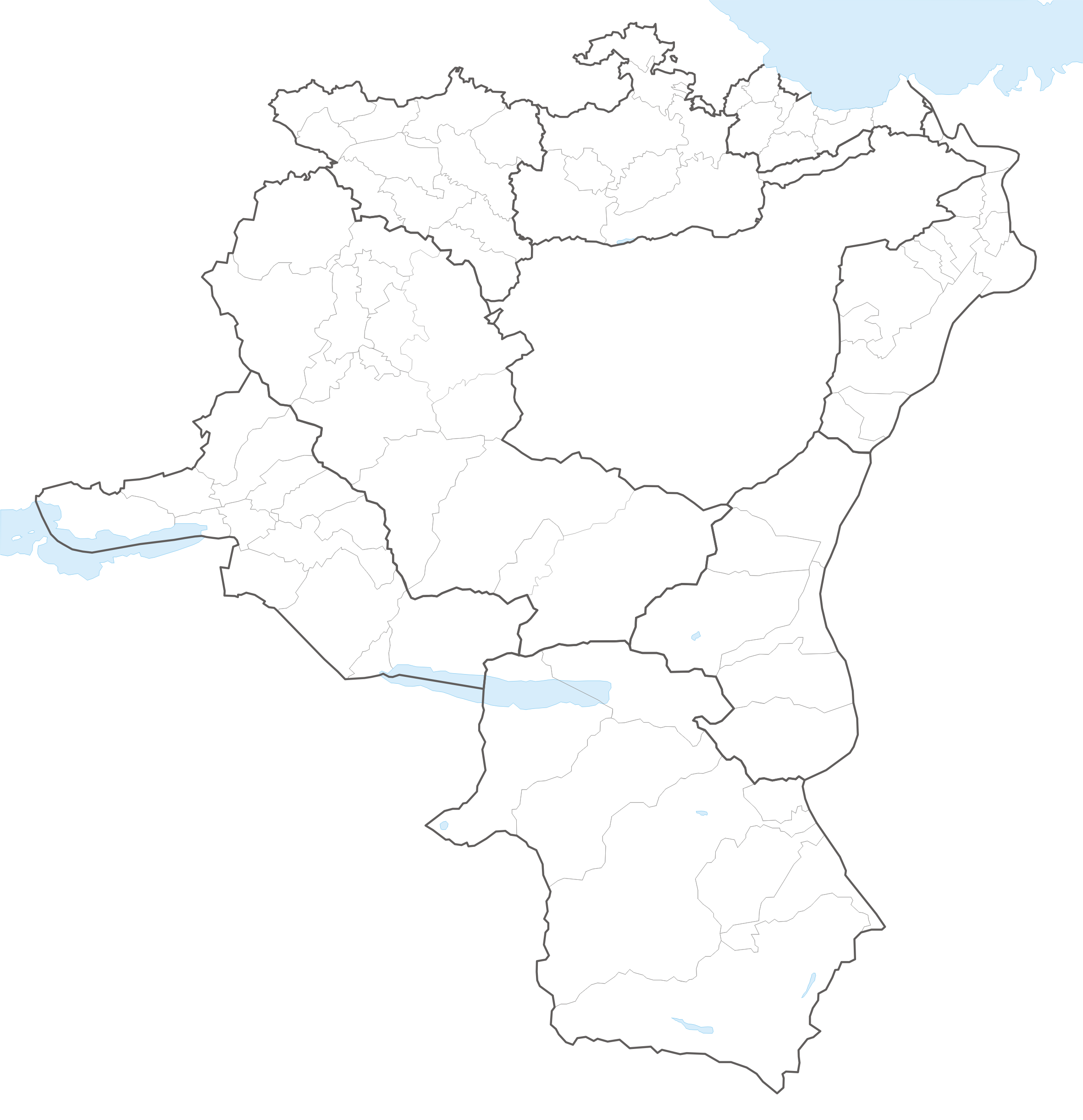 Municipalities of the canton of St Gallen