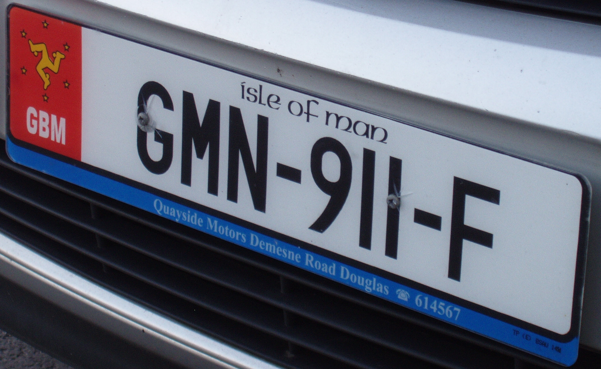 Vehicle registration plates of the Isle of Man